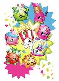 Раскраски-Раскраски для девочек- коллекционные игрушки Шопкинс (Shopkins)