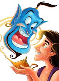 Раскраски из мультфильма «Аладдин»