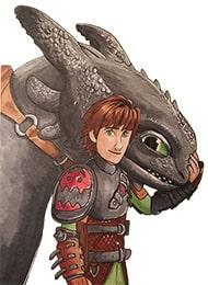 Раскраски из мультфильма «Как приручить дракона»