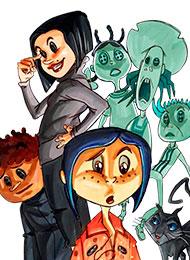 Раскраски из мультфильма «Коралина в Стране Кошмаров»
