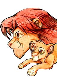 Раскраски из мультфильма «Король Лев»