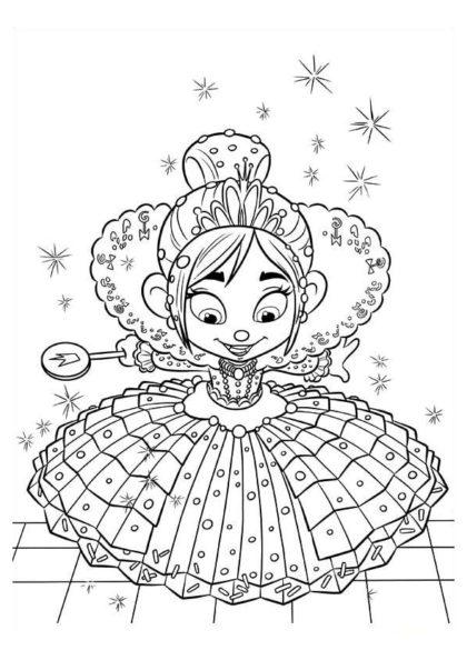 Раскраска Девочка–глюк Ванилопа скачать или распечатать