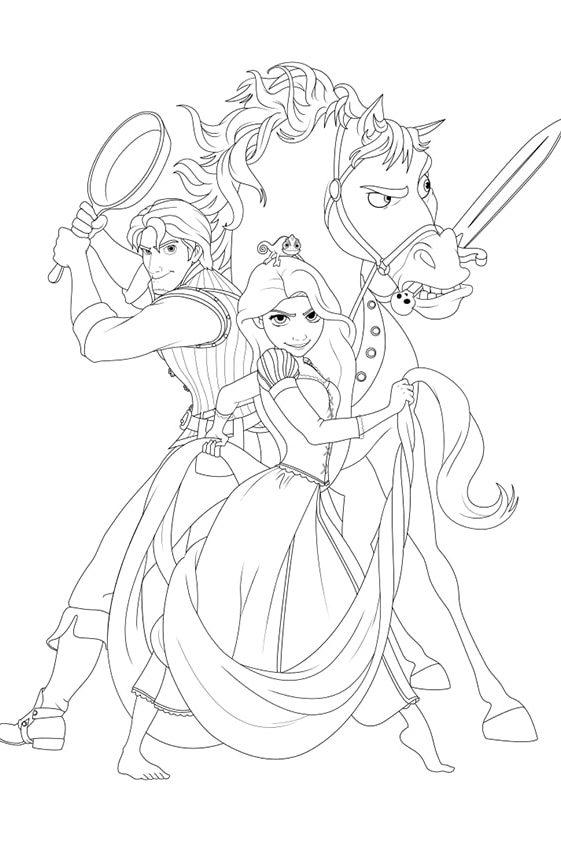 Раскраска малютка Рапунцель, Король и Королева | Чудо ребенок