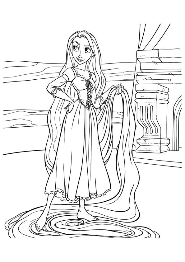 Раскраска Рапунцель и волшебные волосы | Чудо ребенок