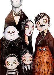 Раскраски из мультфильма «Семейка Аддамс»