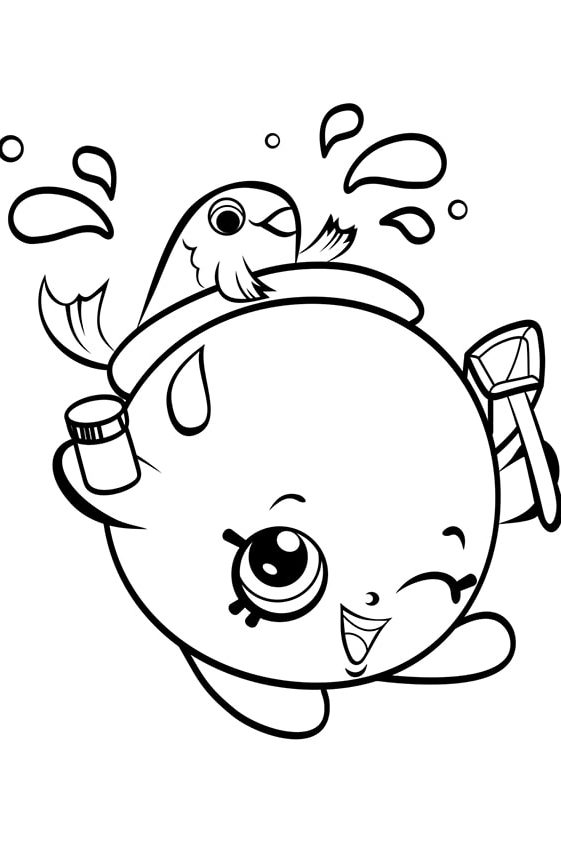 Раскраска Шопкинс Перец Пеппе | Шопкинс | Чудо ребенок