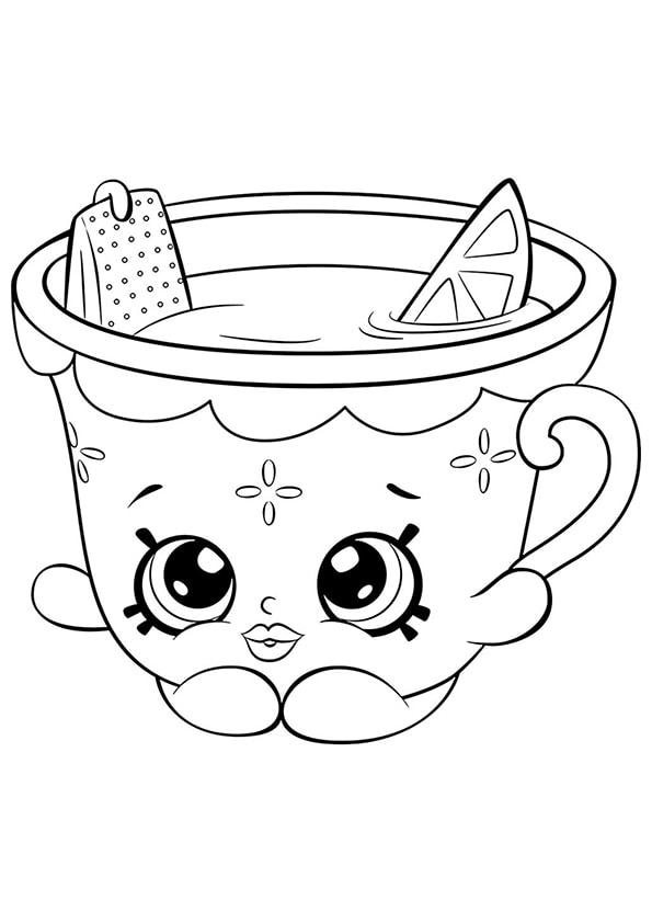 Раскраска Шопкинс Медовый чай и Лимон | Шопкинс | Чудо ребенок