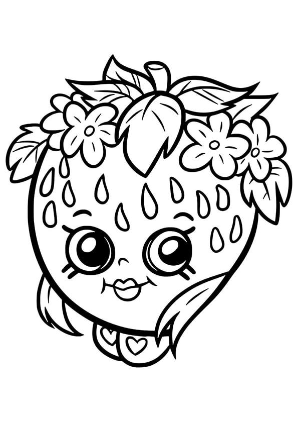 Раскраска Шопкинс Клубника | Чудо ребенок | Шопкинс