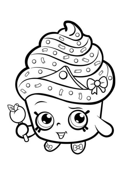 Раскраска Шопкинс Принцесса кексов скачать или распечатать