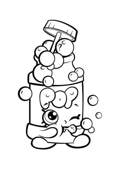 Раскраска Шопкинс Мыльные пузыри скачать или распечатать