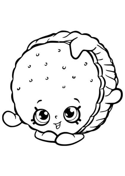 Раскраска Шопкинс Сэндвич–мороженое | Шопкинс | Чудо ребенок