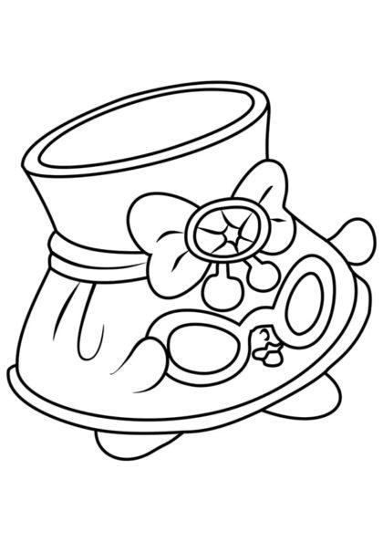 Раскраска Шопкинс Шляпка с очками скачать или распечатать