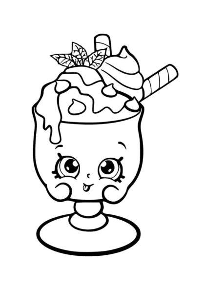 Раскраска Шопкинс Шоколадно-мятный Чарли скачать или распечатать