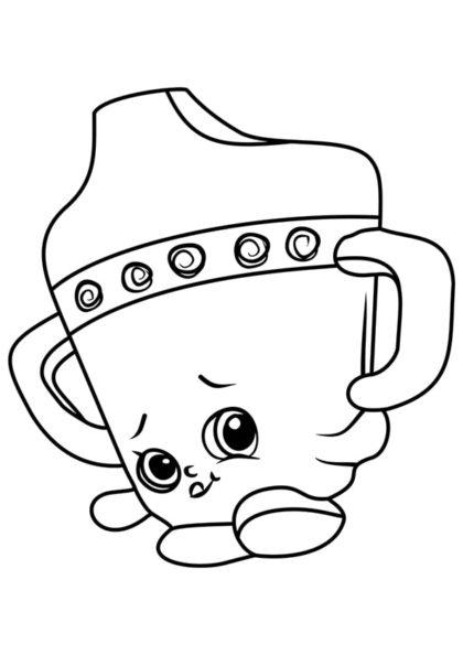 Раскраска Шопкинс Поильник для детей скачать или распечатать