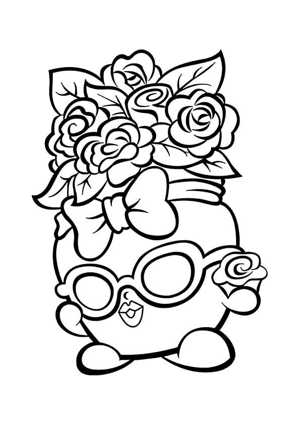 Раскраска Шопкинс Филиппа–цветы | Шопкинс | Чудо ребенок