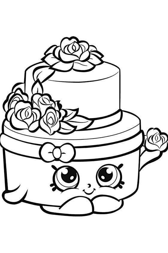 Раскраска Шопкинс Пончик Длиш | Шопкинс | Чудо ребенок