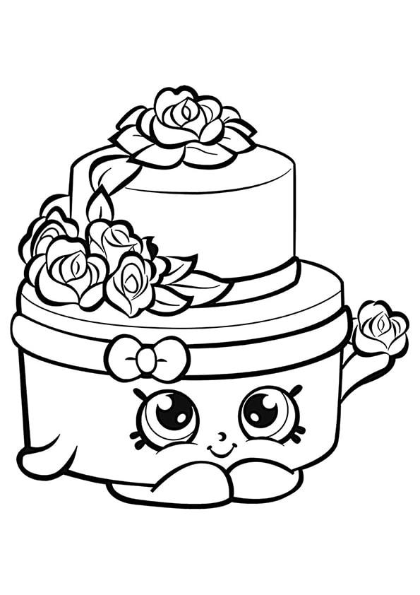 Раскраска Шопкинс Свадебный торт | Шопкинс | Чудо ребенок
