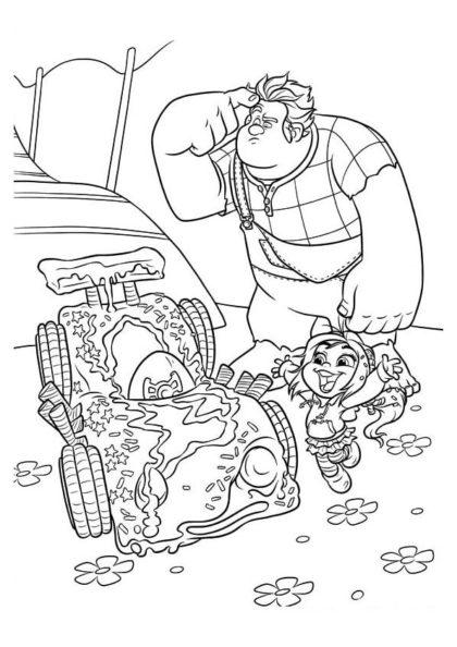 Раскраска Ральф и Ванилопа создали карт скачать или распечатать