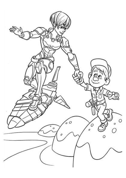 Раскраска Калхун и Феликс спешат на помощь скачать или распечатать