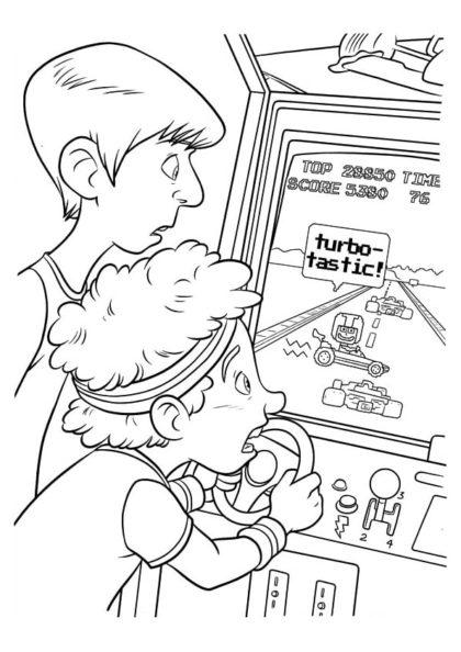 Раскраска Турбо в новой игре скачать или распечатать