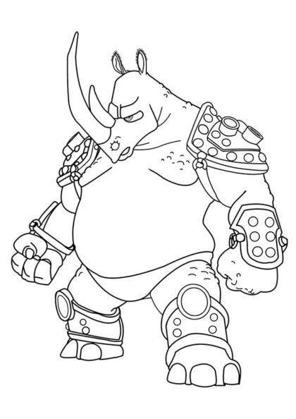 Раскраска Нефф из аркадной игры Altered Beast скачать или распечатать