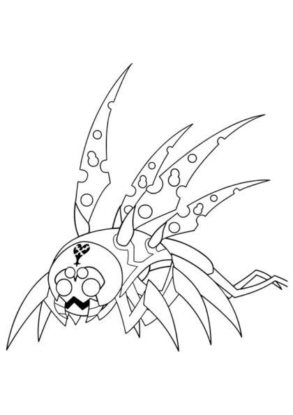 Раскраска Кибер-жук представитель игры «Долг героя» скачать или распечатать