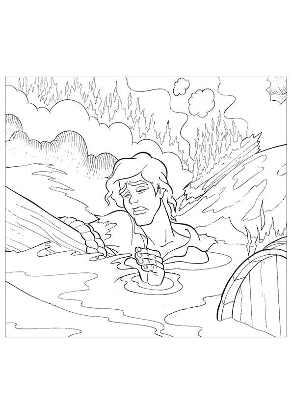 Раскраска принц Эрик и кораблекрушение | Русалочка | Чудо ...