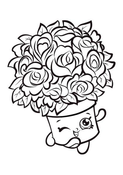 Раскраска Шопкинс Букет Цветов скачать или распечатать
