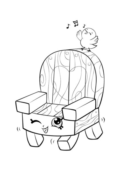 Раскраска Шопкинс Садовый стул скачать или распечатать