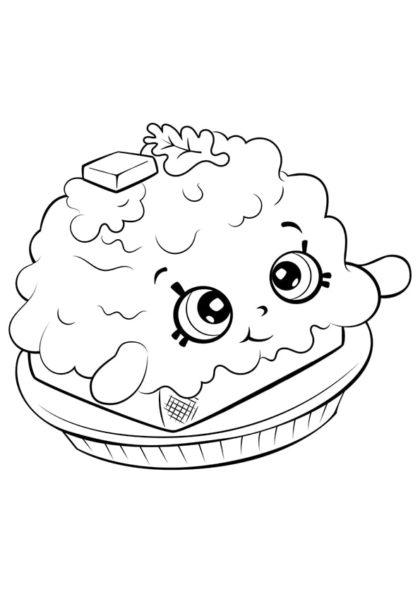 Раскраска Шопкинс Омлет на Тостовом хлебе скачать или распечатать