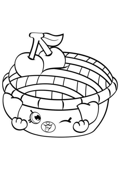 Раскраска Шопкинс Застенчивый пирог скачать или распечатать