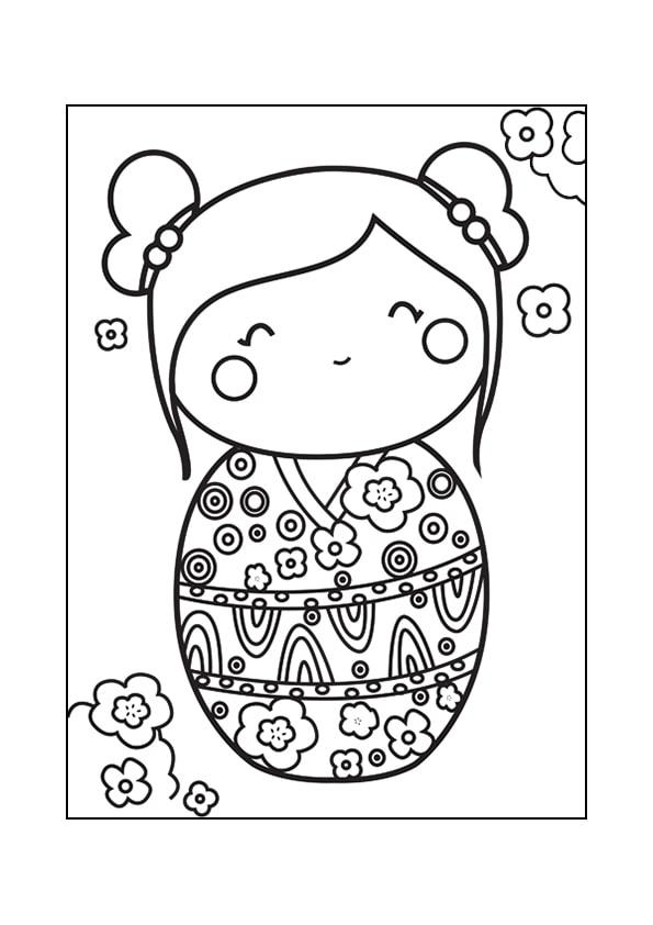 Раскраска Кокеши «Геометрия в цветах» | Чудо ребенок