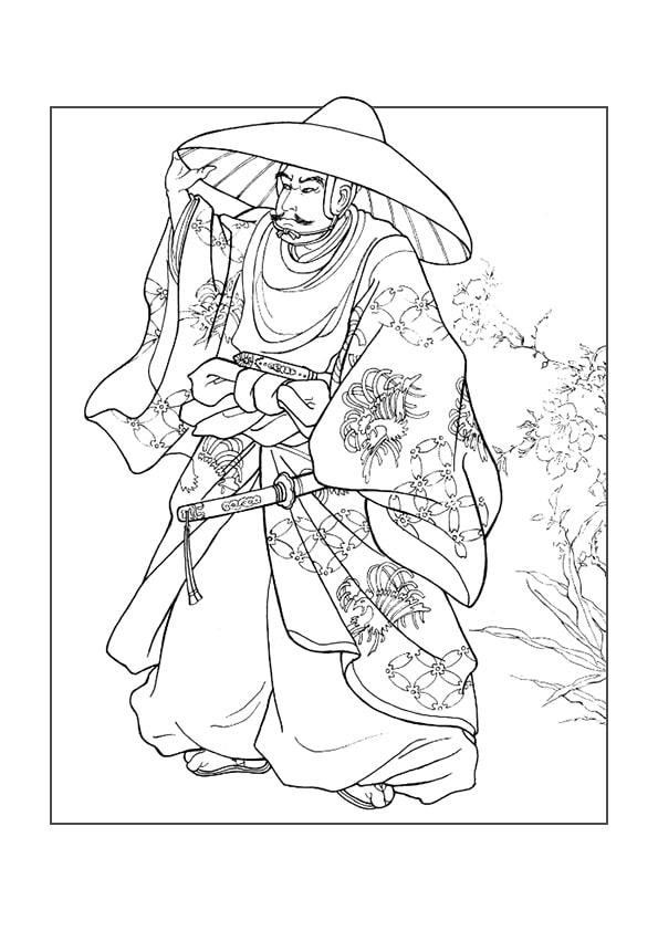 Раскраска Одежда подтверждает статус Самурая   Чудо ребенок