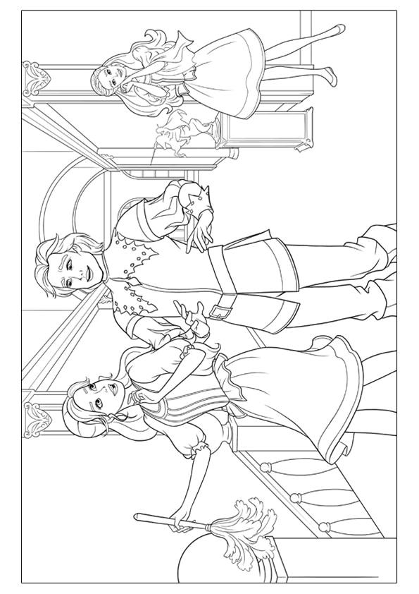 Раскраска Принц Луи и Корин д`Артаньян | Чудо ребенок