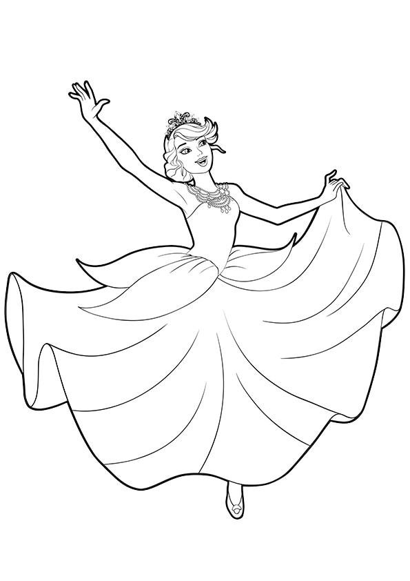 Раскраска Принцесса Катания танцует | Чудо ребенок