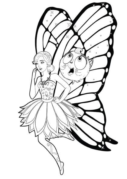 Раскраска Марипоса и Зи взволнованы скачать или распечатать