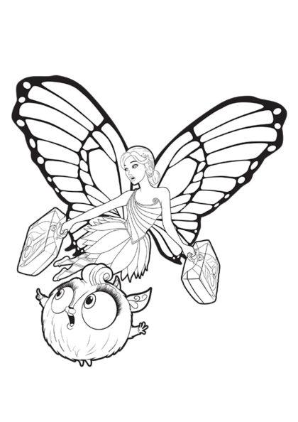 Раскраска Марипоса посол Флаттерфилда скачать или распечатать