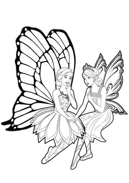 Раскраска Марипоса и Катания подружились скачать или распечатать
