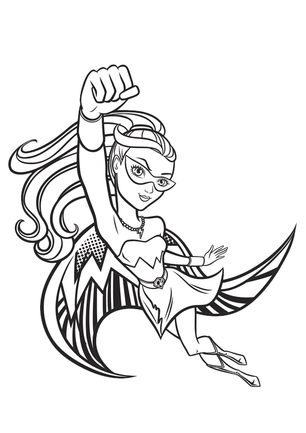 Раскраска Принцесса Кара Супергёрл | Чудо ребенок