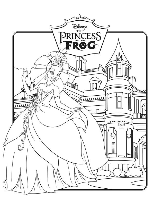 Раскраска Принцесса Тиана | Принцесса и лягушка | Чудо ребенок