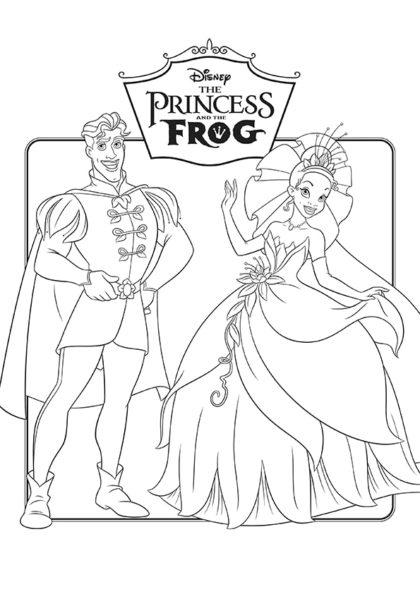 Раскраска Принц Навин и Принцесса Тиана | Чудо ребенок