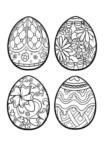 Раскраска пасхальные яйца скачать или распечатать