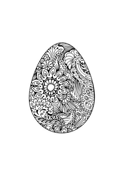 Раскраска писанка цветочный орнамент скачать или распечатать