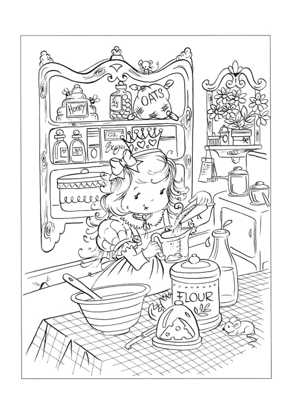 Раскраска сырные маффины от Принцессы | Чудо ребенок