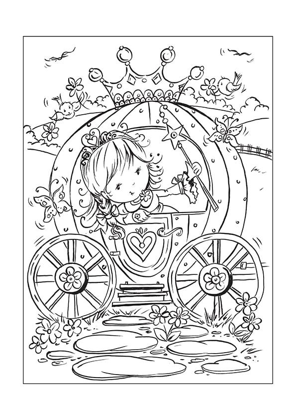 Раскраска карета для маленькой Принцессы | Чудо ребенок