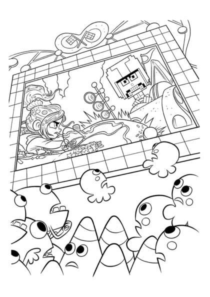Раскраска Турбо из игры «Turbo Time» скачать или распечатать