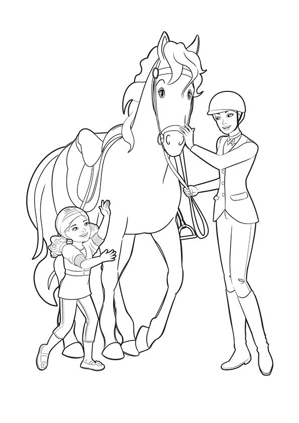 Раскраска Челси, Барби и её лошадь | Чудо ребенок