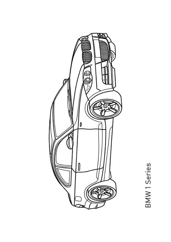 Раскраска купе BMW 1 Series | Транспорт | Чудо ребенок