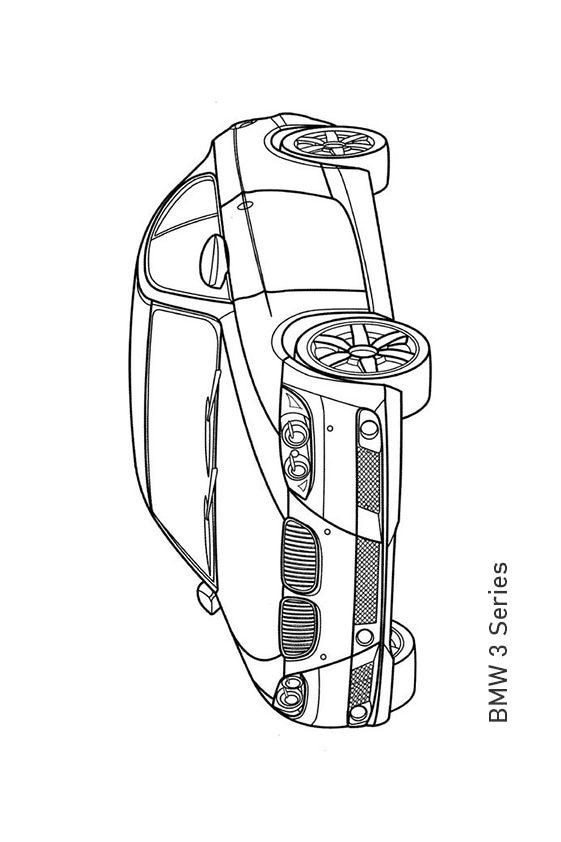 Раскраска седан BMW 7 Series | Транспорт | Чудо ребенок