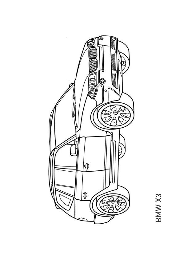 Раскраска кроссовер BMW X3 | Транспорт | Чудо ребенок